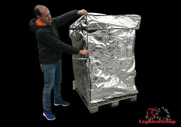 Θερμικό κάλυμμα αλουμινίου για παλέτες THERMAL PALLET COVER