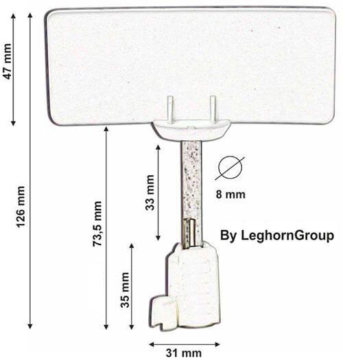 σφραγίδα με καρφί rfid neptune seal τεχνικο σχεδιο