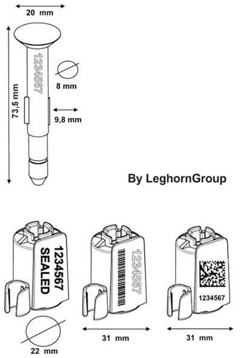 σφραγίδες με καρφί για κοντέινερ neptune seal περιγραφή