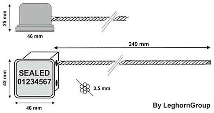 σφραγίδες με συρματόσχοινο minicable rfid τεχνικο σχεδιο