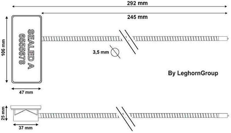 σφραγίδες rfid για τρόλεϋ τεχνικο σχεδιο