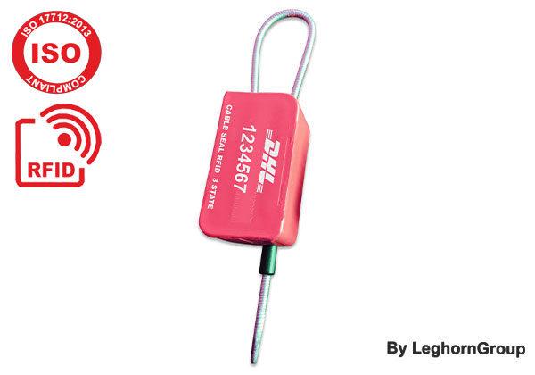Σφραγίδα ασφαλείας με συρματόσχοινο UHF RFID τριών ελέγχων E-Seal MYRMIDON SEAL
